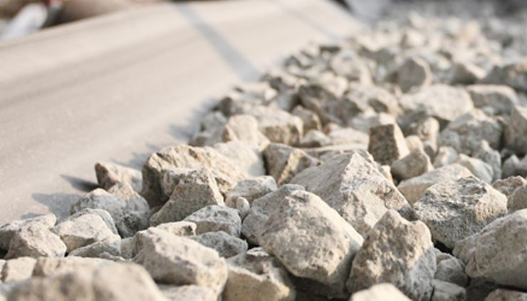 Picture of concrete and tarmacadam aggregates